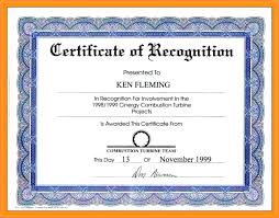 Certificate Of Recognition Template Free Download Example Of Certificate Of Award Stingerworld Co