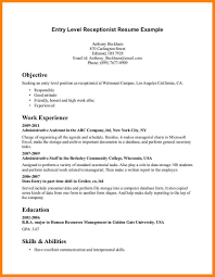 Resume Templates For Entry Level Resume Templates Entry Level Best Cover Letter