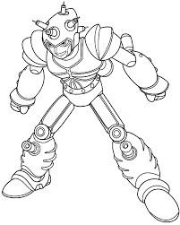 Disegno Di Atlas Il Robot Malvagio Costruito Dal Professor Ram Da