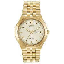 citizen watches for him her zales men s citizen eco drive® corso gold tone watch champagne dial model bm8402 54p