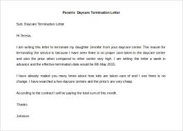 Sample Daycare Withdrawal Letter Under Fontanacountryinn Com