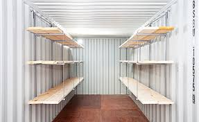 make the most of your storage space by adding shelves to your container
