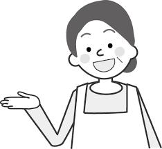 無料イラスト人物おばさんのイラスト3