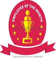 Employee Of The Month Trophy Employee Month Trophy Designvector Illustration Stock Vector