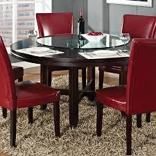 steve silver company hartford burnished dark oak wood round dining table