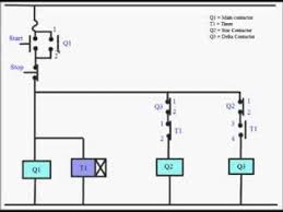 star delta starter power control circuit