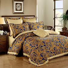 duvet covers 33 clever ideas blue and gold bedding royal elizabethan themed european style paisley pop