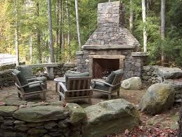 outdoor deck fireplace designs