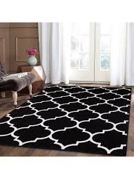 trendy without border black area rug