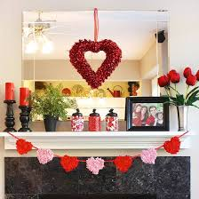 office valentine ideas. Valentine Day Decoration Attractive S Mantel And Shelf Displays From Better Homes In 15 Office Ideas