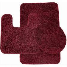 bathroom rugs classy  piece shag bathroom rug set