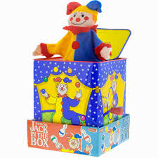 jack in the box toy. jack in the box classic spring loaded pop up cloth clown toy tin crank i