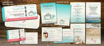 Passport Booklet Template Cruise Wedding Invitation Set All Aboard Save The Date Boarding Pass