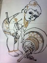 saatchi art artist deepshika dey painting childhood of lord krishna in cutest form