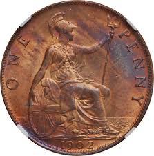 1 Penny Edward Vii United Kingdom Numista