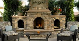 image of outdoor fireplace design
