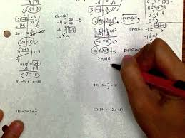beautiful solving equations kuta images worksheet mathematics kuta two step equations with integers jennarocca