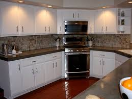 Interesting Painting Oak Kitchen Cabinets White Image Of Paint Intended Inspiration