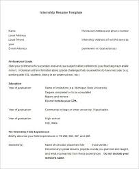 Resume For Internship Template Best Of 24 Internship Resume Templates PDF DOC Free Premium Templates