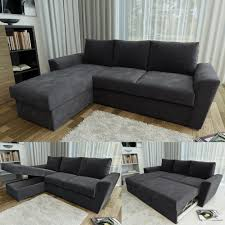 corner sofa bed. Contemporary Corner Stanford L Shape Corner Sofa Bed  4 Colours Black  Brown Charcoal  Taupe To