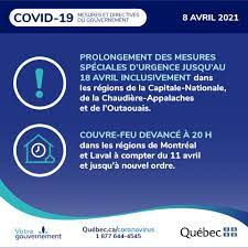 François Legault - La situation reste fragile avec la troisième vague qui  prend de l'ampleur. Le variant est présent partout au Québec et il est  beaucoup plus contagieux. Il faut continuer nos