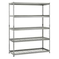 metal storage shelves. d 5 shelf steel unit-mr602478w5 - the home depot metal storage shelves