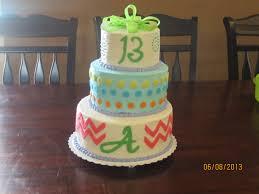 Birthday Cake For A Girl Turning 13 Cakecentralcom