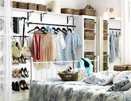 hang some shelves on various levels to display odds and ends create a home for your shoes or simply a place for you to put your pants