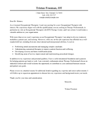 Sample Resume Cover Letter Massage Therapy Occupational Therapist