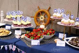 Classy Nautical Birthday Party Smash Cake Nautical Theme Party Decorating Ideas