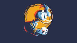 Donald Duck Minimal Art 4k, HD Cartoons ...