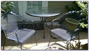 Used Wrought Iron Patio Chairs White Wrought Iron Patio Table And
