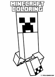 Printable minecraft coloring creeper
