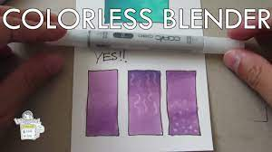 How to use Copic Colorless Blender 0 - YouTube