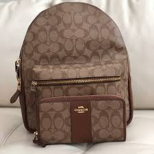 COACH MEDIUM CHARLIE BACKPACK SIGNATURE   WALLET