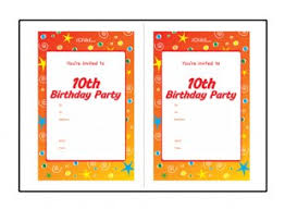 Party Invitaion Templates Birthday Party Invitation Templates For A 10 Year Old 10th Birthday