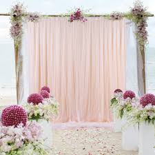 Wedding Photo Background Tulle Backdrop Curtains Peach For Parties Weddings Baby Shower Birthday Photography Engagement 5ft X 7ft Drape Backdrop Photo Sheer Backdrop