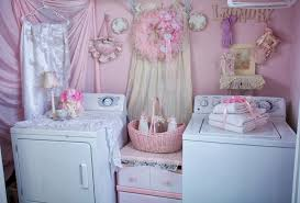 shabby chic pink laundry room chic laundry room