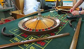 a rigged roulette table being created