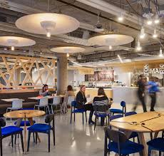 Google office cafeteria Large Office Project Name Google Chicago Greenbiz Look Inside Googles Biophilic Chicago Offices Greenbiz