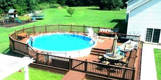 image of square above ground pool with deck wood above ground pool deck kits square