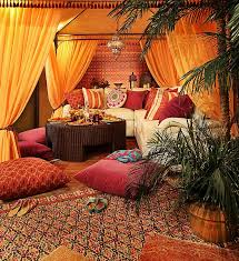 Living Rooms:Traditional Morrocan Living Room With Morrocan Floor Pillows  And Morrocan Rug Morrocan Living