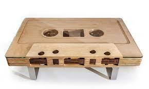mixtape cassette table by jeff skierka