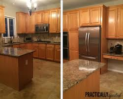 Restain Oak Kitchen Cabinets Inspiration From HATE To GREAT A Tale Of Painting Oak Cabinets