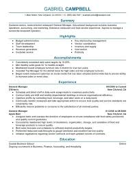 fast food restaurant manager resume general manager resume examples free to try today