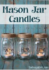 Cute Jar Decorating Ideas Mason Jar Candles by TheFrugalGirls Crafts Country Store 89
