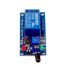 5V <b>Flame Sensor Module</b> Relay <b>Module Flare Detection Module Fire</b> ...