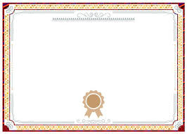 Red Background Shading Pattern Border Certificate Design Red