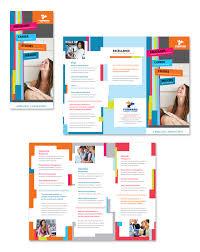 tri fold school brochure template microsoft word tri fold brochure template free ender realtypark co