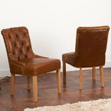 vintage leather or tweed on back dining chair